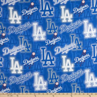 MLB Broadcloth Los Angeles Dodgers Lettering Blue/White