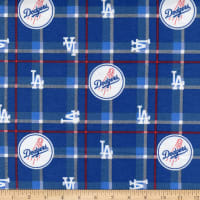 MLB Flannel Los Angeles Dodgers Navy/White