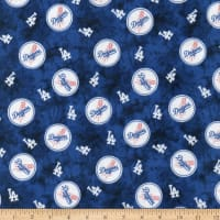 MLB Flannel Los Angeles Dodgers Blue/White