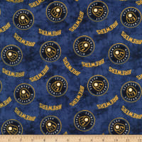 MLB Flannel Milwaukee Brewers Navy/Yellow