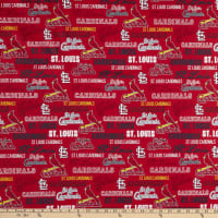 MLB Broadcloth St Louis Cardinals Text Red/Navy
