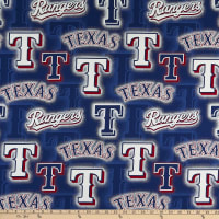 MLB Broadcloth Texas Rangers Lettering Blue/Red