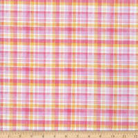 Michael Miller Love Letters Perennial Plaid Pink