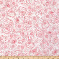 Michael Miller Love Letters Timeless Toile Pink