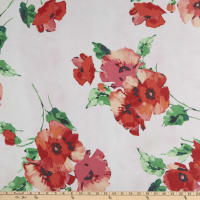 Chiffon Floral Red/White