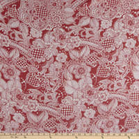 Silk Crinkle Chiffon With Lurex Ruth Red