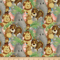Fabric Traditions Jungle Babies Packed Multi