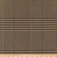Telio Yarn Dyed Glen Check Stretch Woven Suiting Plaid Olive/Black