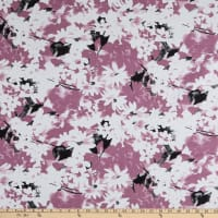 Linen Rayon Floral Rose