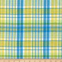 Lawn Plaid Turquoise/Yellow