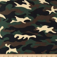 Brushed Stretch Rib Knit Camouflage Black/Brown
