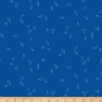 EXCLUSIVE Mister Domestic Love is Love Gender Symbols Blue Fabric