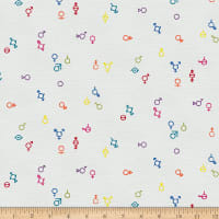 EXCLUSIVE Mister Domestic Love is Love Gender Symbols Rainbow Fabric