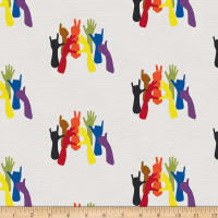 EXCLUSIVE Mister Domestic Love is Love Hands of Pride Rainbow Fabric