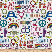 EXCLUSIVE Mister Domestic Love is Love Love Wins Rainbow Fabric