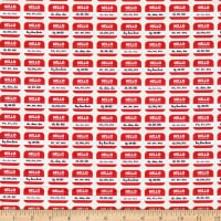 EXCLUSIVE Mister Domestic Love is Love Pronoun Badges Red Fabric