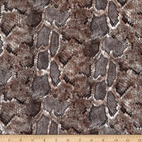 Fabtrends Faux Stretch Leather Python Brown