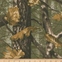 Polished Percale Camo Tree Woven Olive