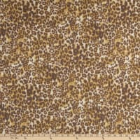 Fabric Merchants Brushed Faux Cashmere Knit Stretch Leopard Cream/Brown