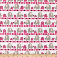EZ Fabrics Minky Jungle Dream Collection Marching Elephants Candy Pink