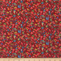 Liberty Fabrics Tana Lawn Magical Forest Red/Yellow