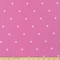 Stretch French Terry Print Dots Pink/White