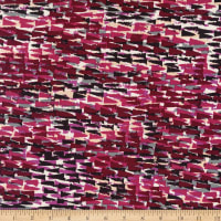 Stretch DTY Print Abstract Triangle Pink/Maroon