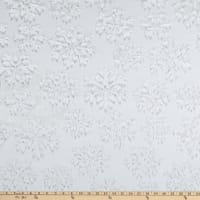 Shannon Minky Luxe Cuddle Snowflake Natural