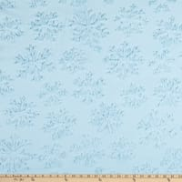 Shannon Minky Luxe Cuddle Snowflake Saltwater