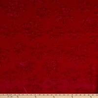 Shannon Minky Luxe Cuddle Snowflake Scarlet
