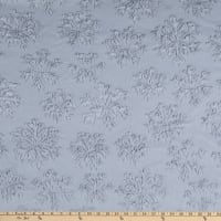 Shannon Minky Luxe Cuddle Snowflake Silver