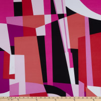 Fabtrends ITY Geometric Pink