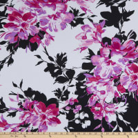 Fabtrends ITY Floral Fuchsia