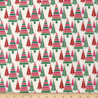 Cloud9 Christmas Past Pretty Pines Pink/Green Multi