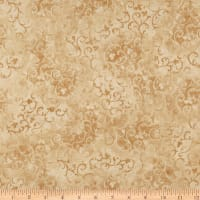 "108"" Essential Scroll Quilt Backing Quilt Backing Tan"