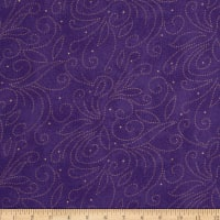 "110"" Wide Quilt Backing Scroll Purple"