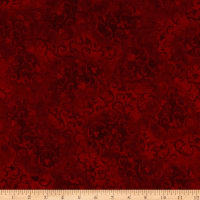 "108"" Essential Scroll Quilt Backing Quilt Backing Red"