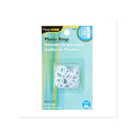 "1/2"" Plastic Rings 24/Pkg White"