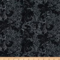 Flourish Wide Quilt Backing Black