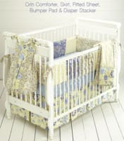 Kwik Sew Crib Comforter, Skirt, Fitted Sheet, Bumper Pad & Diaper Stacker Pattern
