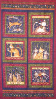 "Susan Winget Purrfect Christmas Christmas Kitties 24"" Panel"