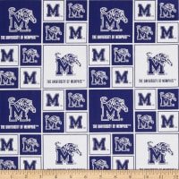 Collegiate Cotton Broadcloth University of Memphis Tigers