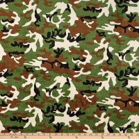 Shannon Minky Cuddle Camouflage Green