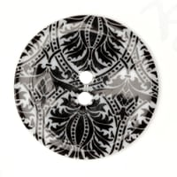Fashion Button 1-3/8'' Damask Black