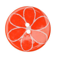Fashion Button 1-3/8'' Confetti Flower Orange