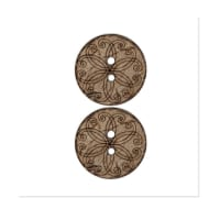 Organic Elements Coconut Button 3/4'' Natural