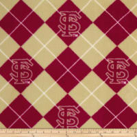NCAA Florida State Seminoles Fleece Argyle Red/Tan