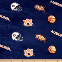 Collegiate Fleece Auburn University Tossed Navy/Orange