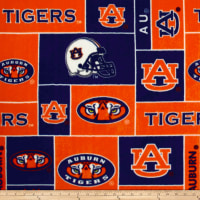 NCAA Auburn Tigers Fleece Blocks Orange/Blue