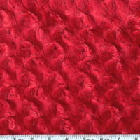 Shannon Minky Rose Cuddle Red